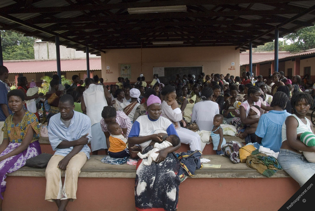 overcrowded health centre